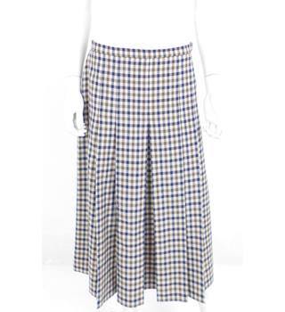 "Aquascutum 30"" Waist Wool Pleated Skirt"