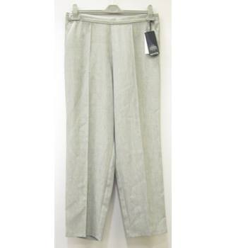 BNWT M&S Tapered Trousers - Grey - Size 14