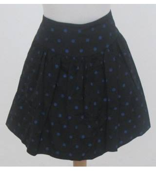 Lux - Size: L - Black with Blue Polka Dots Skirt