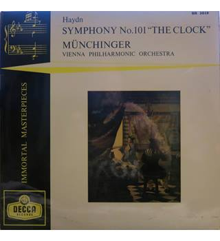 "Haydn Symphony No.101 'The Clock'. Vienna Philharmonic Orchestra/Munchinger.  Decca ffrr. BR3019.  10"" LP"