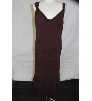 Per Una - Brown - Summer - Ideal Cruise Wear - Dress - Size 16 Long - Cocktail