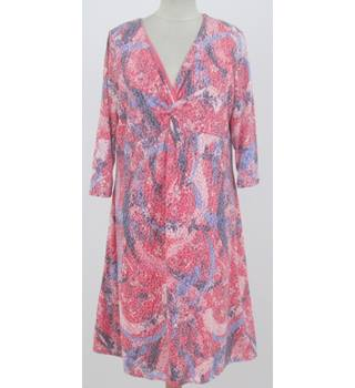 M&S Per Una - Size: 16 - Pink Floral Patterned Dress