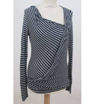 Principles - Size: 12 - Blue and Grey Striped top