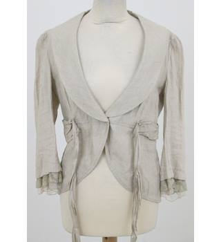 Per Una size 12 cream ivory cardigan with a creased effect