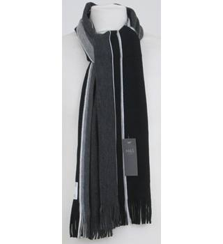 NWOT M&S grey mix striped scarf