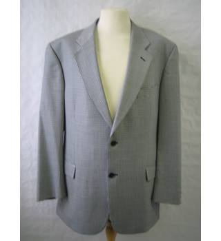 "Vintage St Michael- Chest 44"" MEDIUM  -Houndstooth check wool and silk mix sports jacket"