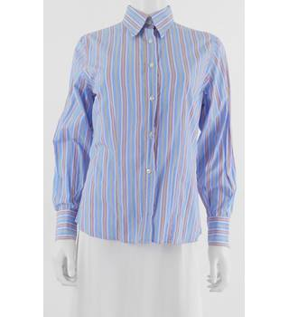 Katherine Hamnett Size 12 Cotton Striped Shirt