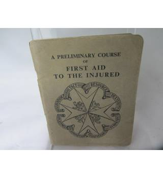 Vintage St John Ambulance first aid for the injured book 1952
