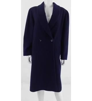 House of Fraser Size 12 Navy Wool Coat