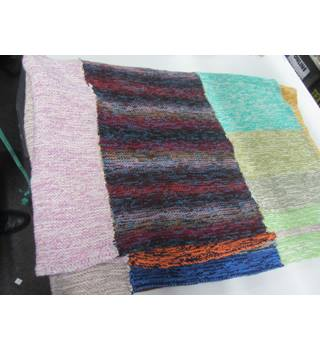 HAND KNITTED BLANKET 177 X 11 CM