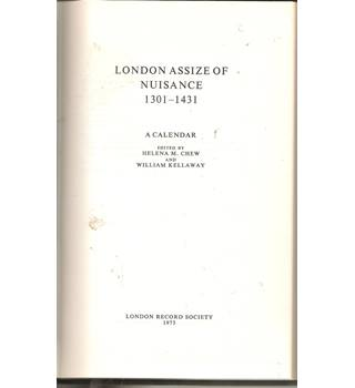 London Assize of Nuisance 1301-1431