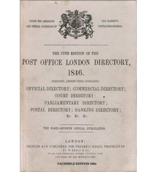 The June Edition of the Post Office London Directory 1846