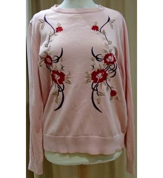 BNWT Limited Edition Floral Embroidery M&S Marks & Spencer - Size: 14 - Pink - Jumper