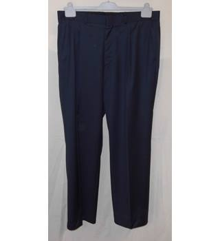 "Savile Row - Size: 36"" - Blue - Trousers"