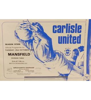 Carlisle United v Mansfield Town - Division 3 - 23rd October 1979