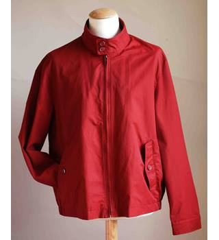 M&S men's cotton jacket M&S Marks & Spencer - Size: XL - Red