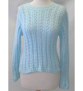 Unbranded size small sky blue crocheted jumper
