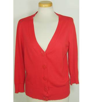 Monsoon size 14 red cardigan