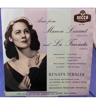 Puccini / Verdi: Arias from Manon Lescaut and La Traviata - Renata Tebaldi  LW 5210
