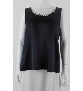 Debut Size 16 Black Satin Evening Top