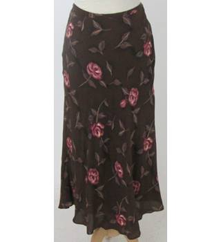 Valerie Stevens size 8 brown long skirt