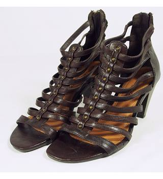 Marco Tozzi Gladiator Heels - Brown - Size 5 (38) Marco Tozzi - Size: 5 - Brown
