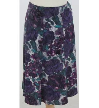 M&S purple floral patterned skirt size 14