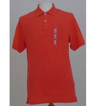 NWOT M&S size: S flame red polo shirt