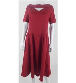Lindy Bop Size 16 Deep Red Swing Dress