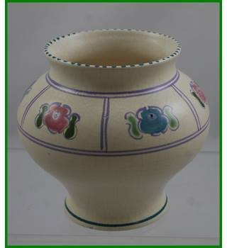 Vintage - Honiton - hand decorated - small vase
