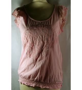 Dorothy Perkins-blouse-peach-size 12 Dorothy Perkins - Size: 12 - Pink
