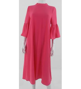 Marks and Spencer Collection Shocking Pink Dress Size 14