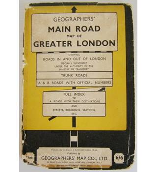 Geographer's Main Road Map of Greater London
