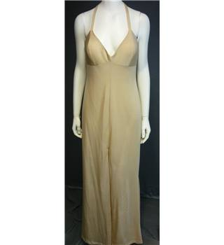 Bernshaw Size 14 Gold Sleeveless Dress