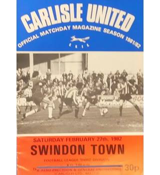 Carlisle United v Swindon Town - Division 3 - 27th February 1982