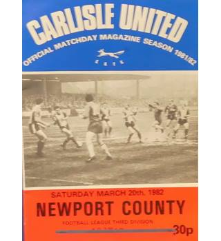 Carlisle United v Newport County - Division 3 - 20th March 1982