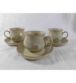 Denby Daybreak Three Cups and Saucers