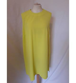 Dorothy Perkins - Size: 14 - Yellow - Knee length dress