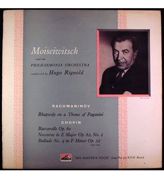 Rachmaninov Rhapsody on a Theme of Paganini Benno Moiseiwitsch, Hugo Rignold, Philharmonia Orchestra - CLP 1072