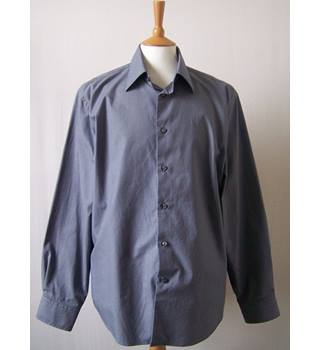 M&S Marks & Spencer Collezione - Size: L - Blue - Long sleeved