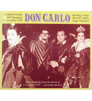 Don Carlo - Verdi (opera telling of unrequited love amidst Franco-Spanish tensions 3 CDs)