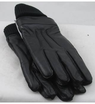 NWOT M&S Collection, size S black leather gloves