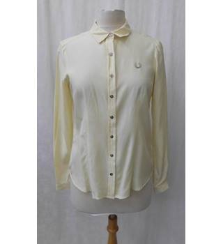 Fred Perry - Size: 10 - Lemon yellow - Long sleeved shirt