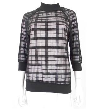Unbranded Size: S Sheer Checked Black Jumper