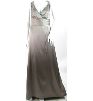 DESSY COLLECTION - SIZE: 12 - BEIGE SHIMMER  - Full length EVENING DRESS