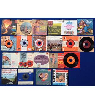 "Collection of German Language Vinyl records 7"" 45rpm."