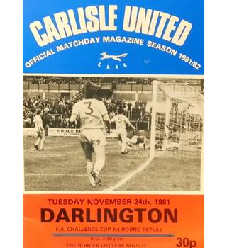 Carlisle United v Darlington - FA Cup 1st Round Replay - 24th November 1981