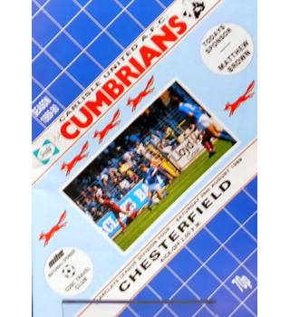 Carlisle United v Chesterfield - Division 4 - 26th August 1989
