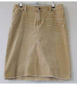 Abercrombie and Fitch size 8 brown corduroy skirt