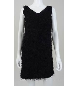 Vila Clothes Size S Black Knitted Party Dress